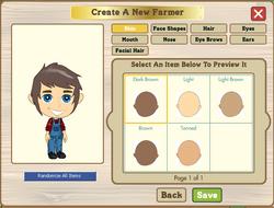 Farmer appearance