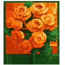 Bouquet of Orange Yarn Flowers