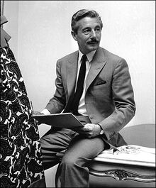 Mr. Cassini in his New York City office in 1961.