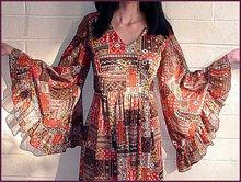Angel sleeves dress