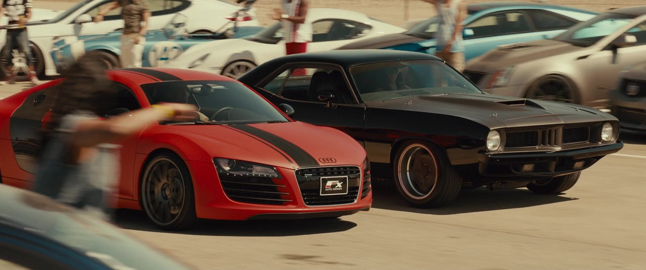 image audi r8 vs 70 the fast and the furious wiki fandom powered by wikia. Black Bedroom Furniture Sets. Home Design Ideas