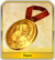 Gold nero medal