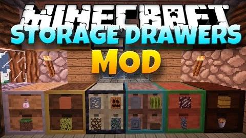 Minecraft Mod STORAGE DRAWERS! Drawers and Shelves 1.7.10