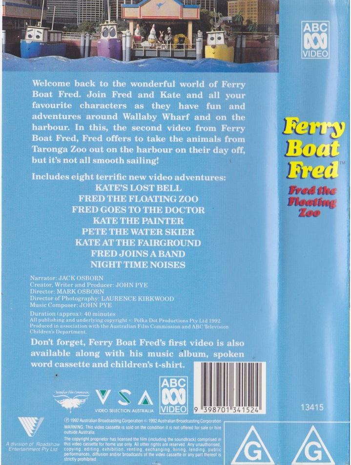 The Vcr From Heck Fifty Cartoons Week Tuesday 50: Fred The Floating Zoo (VHS)