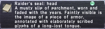 Raider's seal head