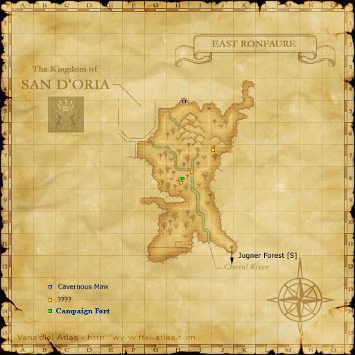 East Ronfaure S Maps Ffxiclopedia Fandom Powered By
