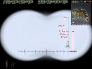 Estimating distances with the binoculars 3