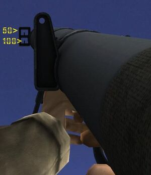 Type 4 70 mm AT Rocket Launcher iron sight