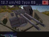 12.7 cm Type 89 AA gun