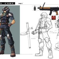 Shinra infantryman artwork from <i>Crisis Core</i>.