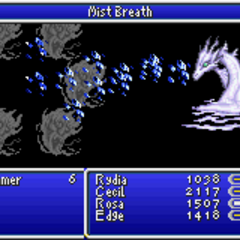 Mist Dragon being summoned (GBA).