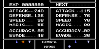List of Final Fantasy Mystic Quest stats