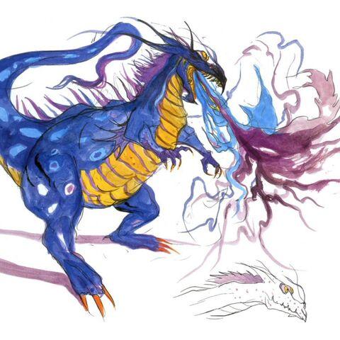 Amano artwork of Salamander.