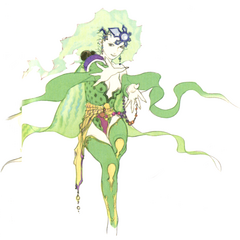 Alternate Akira Oguro concept art of adult Rydia (DS).