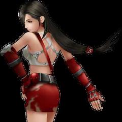 Yoshitaka Amano's Tifa render from <i>Dissidia 012 Final Fantasy</i>.