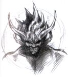 Nibel Reactor Makonoid Closeup FFVII Sketch
