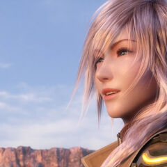 Lightning in the ending of <i>Final Fantasy XIII</i>.