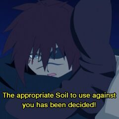 Kaze choosing Soil against an enemy.