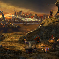 Zanarkand camp site in <i>Final Fantasy X</i>.