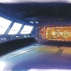 Concept art of the maintenance room.