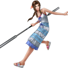 <i>Crisis Core</i> outfit render from <i>Dissidia 012</i>.