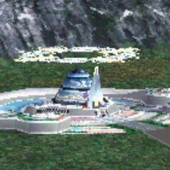 Balamb Garden on the world map.