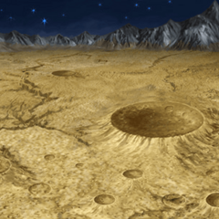 Battle background on the moon's surface (PSP).