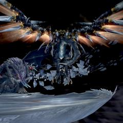 Shinryu Celestia met by Bahamut ZERO.