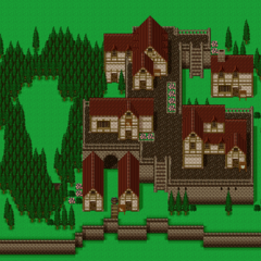 The map of the Phantom Village (SNES).