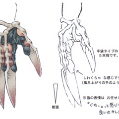 Concept artwork for the Scissor Fangs.