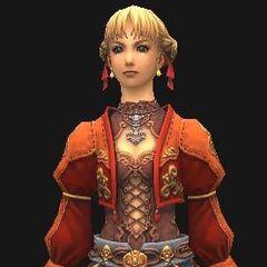 Nashmeira's outdoors outfit.