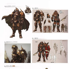 Concept artwork of various Loricans.