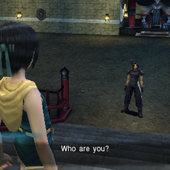 Zack meets Yuffie in <i>Crisis Core</i>.