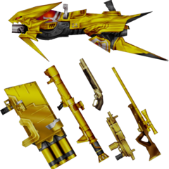 Laguna's EX Mode weapons.