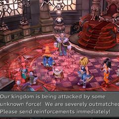 Burmecian messenger brings the news to Regent Cid Fabool