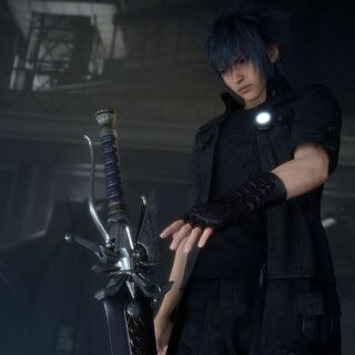 Noctis takes the Sword of the Father.