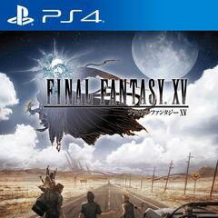 <i>Final Fantasy XV</i> Japanese PlayStation 4 cover.