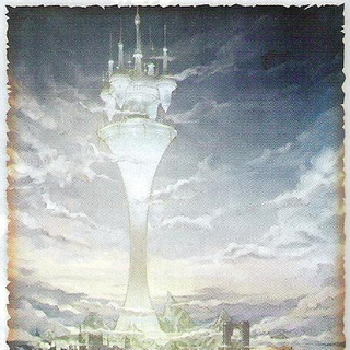 Artwork of Order's Sanctuary, as seen from the World Map.