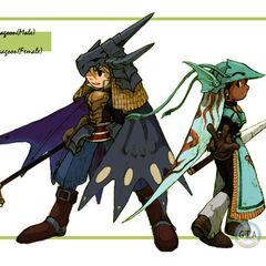 Artwork of unused Dragoon designs based on <a href=
