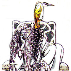 Nintendo Power artwork of Tellah by Katsuya Terada.