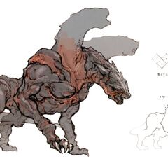 Concept art of a cerberus.