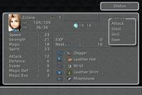 FFIX Status Screen 1