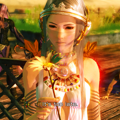 Yeul with a flower in Oerba 200 AF.