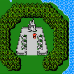 Cornelia in the World Map (NES).