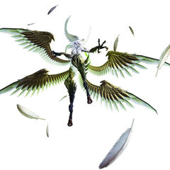 Garuda's <i>Final Fantasy XIV</i> model.