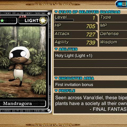 Full version of Mandragora card.