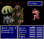 FFIV SNES Gaia's Wrath