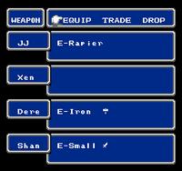 FF NES Equip Menu
