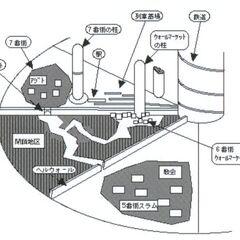 Midgar slums layout for <i>Final Fantasy VII</i>.