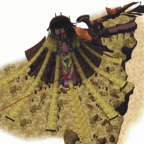 Youth League Base concept art in <i>Final Fantasy X-2</i>.